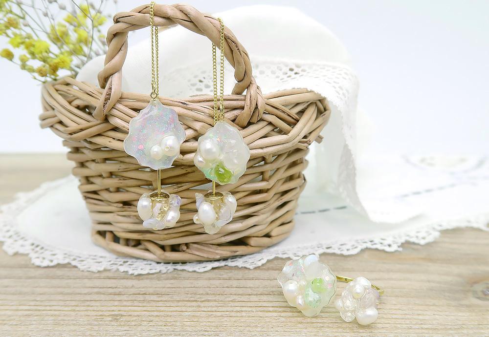 [Ayatorie]海やお花のナチュラルアクセサリー