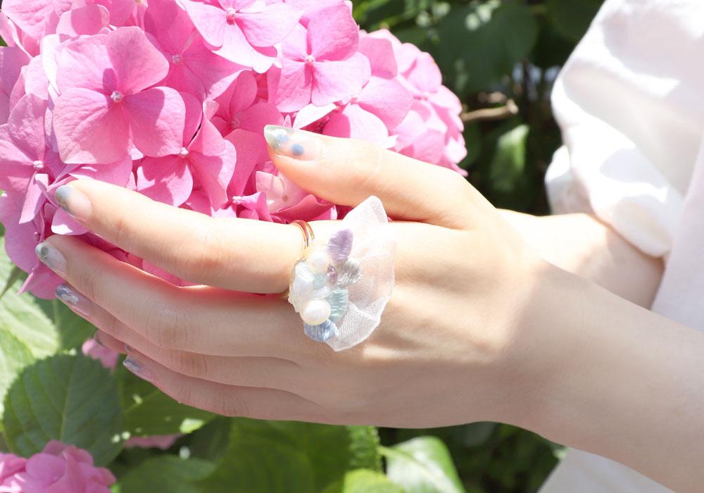 [Ayatorie]紫陽花のアクセサリー